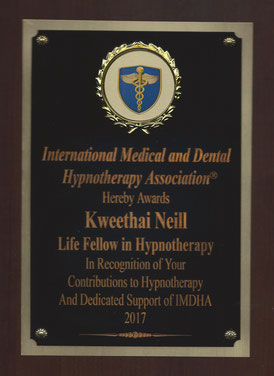 IMDHA Life Fellow in Hypnotherapy award