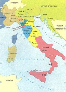 Unificazione italiana (anno 1861 e dopo)