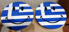 Smiley,  Grieks smiley,  Griekenland, Griekenland liefhebbers, Hout
