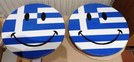 Smiley,  Grieks smiley,  Griekenland, Griekenland liefhebbers, Hout, ophangen