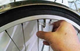 自転車 虫ゴムの劣化による