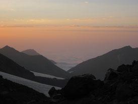 Sunset over the Caucasus