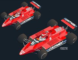 Niki Lauda & Nelson Piquet by Muneta & Cerracín