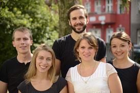 Das SwaF-Team kurz nach der Gründung: Marten, Anna, Alexander, Franziska und Sarah (von links)