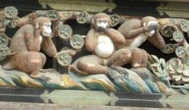 日光の三猿
