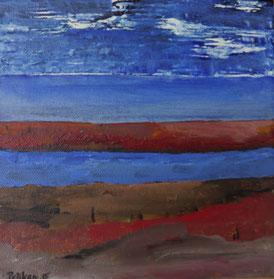 Küste, Acryl auf Leinwand, 30 x 30 cm