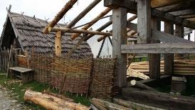Geschichtspark Adventon, Haus-Baustelle
