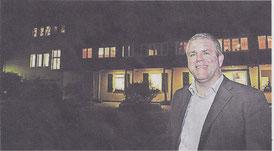Jens Lüdert, Leiter des Kinderheims Kastanienhof. bittet die Krefelder um Mithilfe.  Rp•ARCHIV, T. L