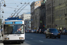 Trolleybus in St. Petersburg