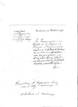 """Lettre d'information du commandement du 10ème Régiment de Dragons : """"Le cavalier C. était en bonne santé le 17 août"""""""
