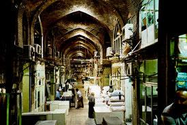 die riesigen Bazarhallen