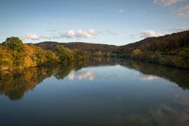Der Rhein von der Hochrheinbrücke aus gesehen. Blickrichtung Flussaufwärts in Richtung Rheinsulz. (Foto CC)