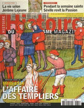 LA CHUTE DES TEMPLIERS - HISTOIRE DU CHRISTIANISME MAGAZINE n° 71