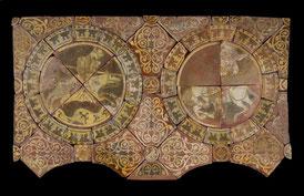Carreaux de pavement de l'abbaye de Chertsey - Richard Cœur de Lion contre Saladin.