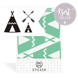 Sticker | Wandsticker - Indianer | Tipi - Set