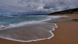 Wandern am Meer entlang