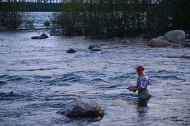 Lachsfischen, Salmonfishing Ontario Canada