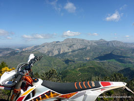 Individuelle Enduro Touren in Andalusien