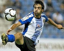 Joseba del Olmo, con la camiseta del Hércules.