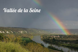 Arc en ciel sur la boucle de Moisson  Photo Gerard BLONDEAU