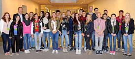 Die Klasse von Herrn Glameyer im Reichstag mit MdB Miersch – Foto: Büro Miersch