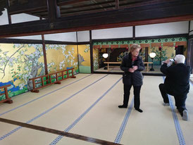 The paintings are traditionally ascribed to Hasegawa Tohaku and his son Kyuzo.
