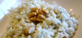 Ricetta risotto ai  formaggi noci e pistacchi