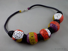 Exemple de grosses perles multicolores