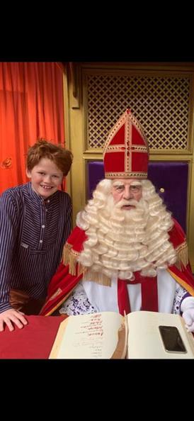 """Bo Burger met de """"echte"""" Sinterklaas!"""