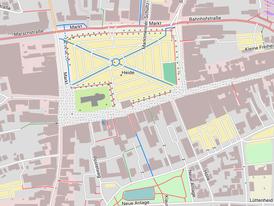 Beispielhafter Kartenausschnitt eine Openstreet Map (Quelle: www.freizeitkarte-osm.de)