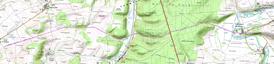 carte de la voie romaine n°VI de Bovée sur Barboure à Saint Germain sur Meuse, via Broussey en Blois, Vacon, Sauvoy.
