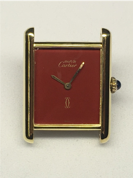 Cartier Tank Silber vergoldet 6075432