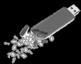 récupération de données de clé USB cassée