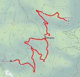 Route auf den Großen Raschberg über die Raschberghütte