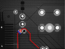 断線箇所1 X線写真図解