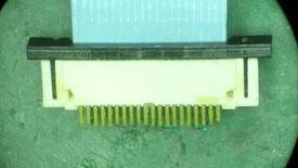 スイッチ基板A コネクタ破損部分裏