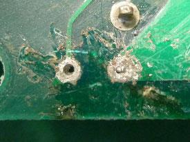 車載 ECU基板 電解コンデンサ不良 取り外し前