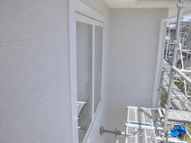窓の養生を撤去した写真