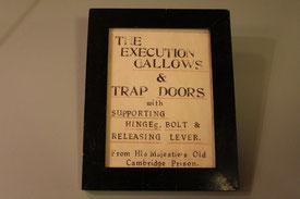 Schild für Cambridge Galgen von Syd Dernley, Sammlung Robert C. Marley