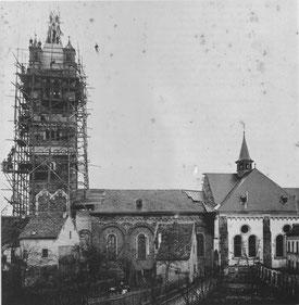 Richtfest für den Kirchturm (1901)