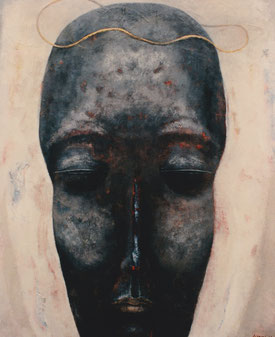Black face 194×162cm Oil on canvas   1991
