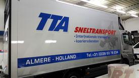 belettering bakwagen TTA
