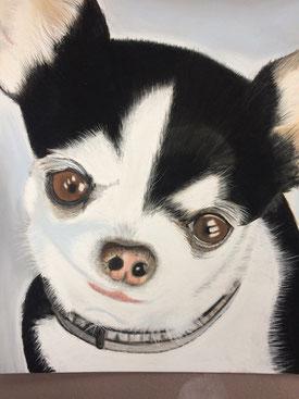 portrait pastel chien