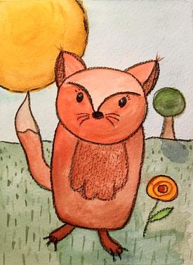 Illustration Kleiner Fuchs
