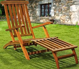 sedia sdraio +legno +arredo giardino +garden