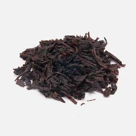 Foto, Schwarzer Tee aus Sri Lanka, Ceylon, mit großen Blättern Bio-zertifiziert