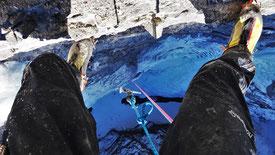 Cascade de glace ça valet l'coup topo Glacenost Haute-Maurienne Guide de Haute Montagne
