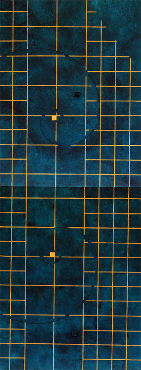Golden Grid 3 F6×2 318mm×820mm   Acrylic 2012