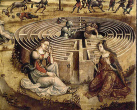 Thésée combat le Minotaure - Maître des Cassoni Campana ou Maestro di Tavernelle, peintre anonyme