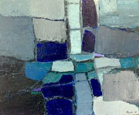 Jacques Aguila. Peinture à l'huile sur panneau.